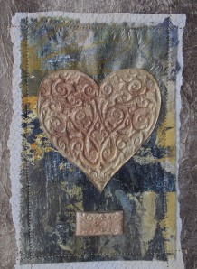 collage heart black gold