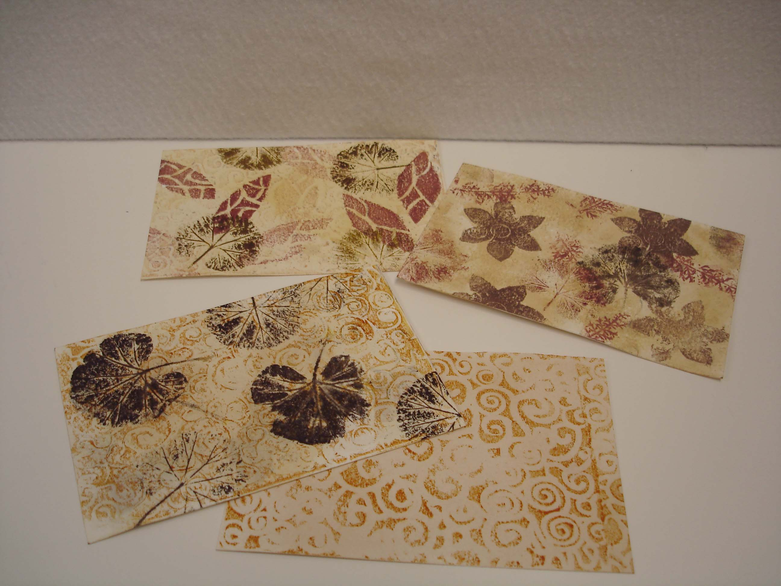 Nature Print Post Cards