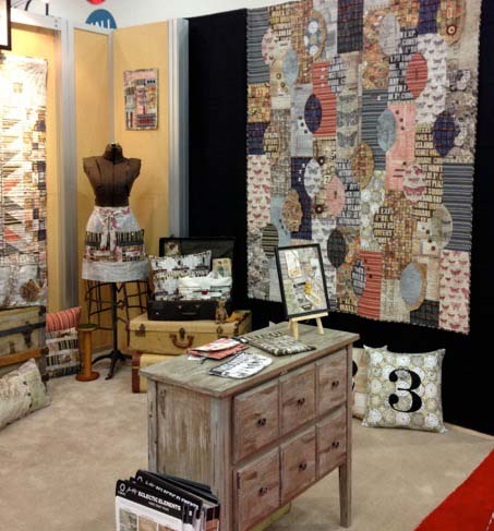 Fall Quilt Market Eclectic Elements Booth  2013