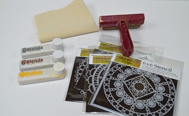 Ink, stencils, canvas, prayer
