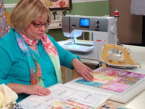 7-3-14 Fabric Painting patchwork